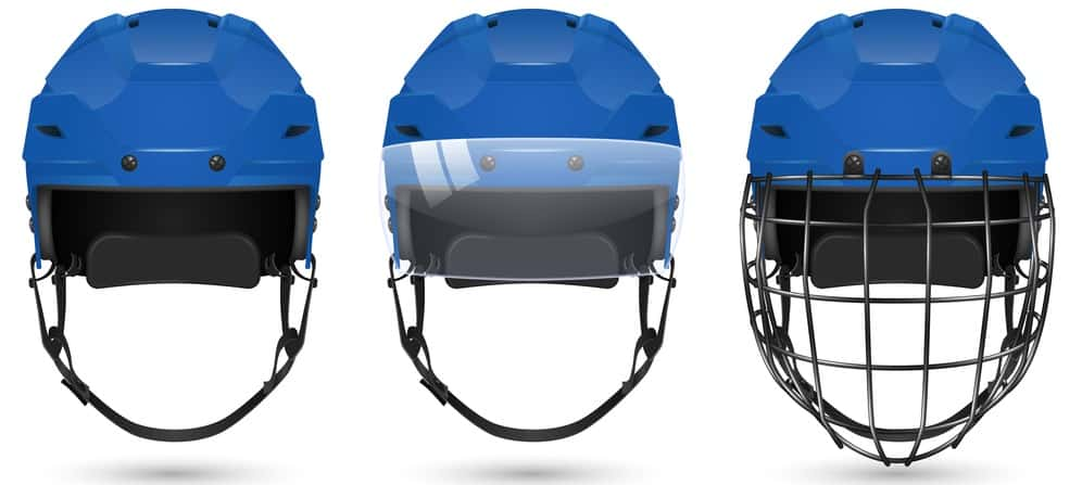 Cage/Visor vs No Cage Hockey Helmets